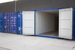 geverfd en onderhouden opslag container